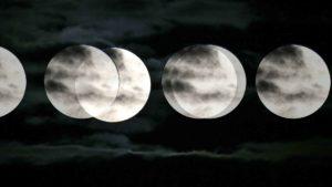 As fases da Lua de 2012, representadas pelo calendário Lunar de 2012.